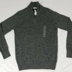 Gap Sweater Mock Neck Heather Gray Men's Long